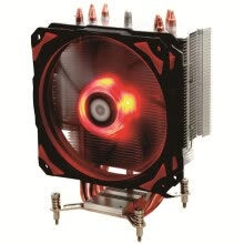 -ID-COOLING SE-214-RGB RGB Synchronous Light Efficiency Tower Side Blowing CPU Radiator Full Black Four Heat Pipe 13CM Fan Full Platform on JD