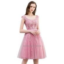 41971a8b31c Homecoming Dress Cheap A Line Short Appliques Cocktail Party Dress Knee  Length Lace Graduation Dresses