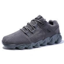 New running shoes men's sports shoes senior suede Comfortable non-slip outdoor male sneaker trainer shoes black gray yellow