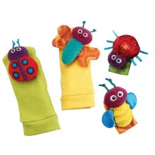 -Baby Gift Toy 4pcs Set Garden Bug&Bee Wrist Rattles+Foot Socks on JD