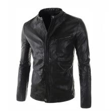 leather-faux-leather-Zogaa New Men's Leather Slim on JD