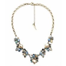 875062455-Aiyaya Multicolor and Multishape Crystal Waterdrop American And Europen Style Statement Necklace Chain on JD