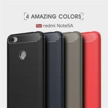 -Goowiiz Phone Case For Xiaomi Redmi Note 5A/Note 5A Prime/Y1 Lite Fashion Slim Carbon Fiber TPU Soft Silicone on JD