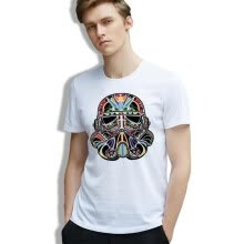 -Man T-shirt Star Wars Stormtrooper Sugarskull Clone Wars Graffiti Tee Man Printing 100% Cotton Casual O-neck Tshirt on JD