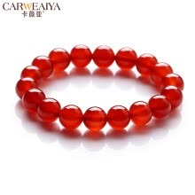 bracelets-bangles-Carweaiya Chinese Red Agate Bracelet Men & Women Couple Single Ring Crystal Bracelet Red Agate  Jewelry Birthday Gift Tradition on JD