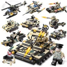 -Building blocks military tanks (25 kinds of tanks, fighters, chariot) kids intelligence toy Eight in one kids toys Hands-on abilit on JD