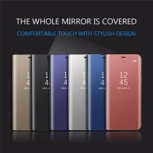 -Iphone 6S/6S Plus Luxury Slim Mirror Flip Shell  Stand Leather Smart Clear View Window Cover Phone Case on JD