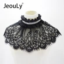 ties-handkerchiefs-JeouLy wholesale Chic Women Detachable Faux Fake Collar Necklace Peter Pan Removable False Choker on JD