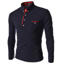 long-sleeved-polos-Zogaa New Men's POLO Shirt Fashion Slim Dot Long Sleeve on JD