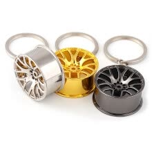 -Wheel Hub Alloy Key Chain Hanging Pendant Keyring - 3.54 inch on JD