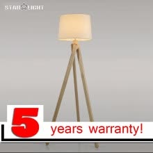 8750210-Wood floor lamp industrial lighting fixture for home renovation house retro tripod floor lamp attic on JD