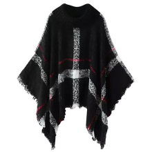 knits-Mooncolour Women's Assorted Colors Striped Irregular Knitting Cape Cloak on JD