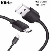 -Kiirie USB Type C Cable, 1M/3.3FT USB Type A to Type C Data Charging Cable for Type C USB Devices on JD