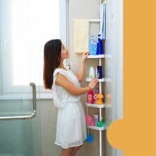 bathroom-supplies-Corner Shower Caddy Shelf Organizer Bath Storage Bathroom Rack Holder C4F1 on JD