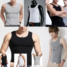 875061886-Men's New Cotton Top Quality Tank Top Sexy Corset Summer Vest on JD