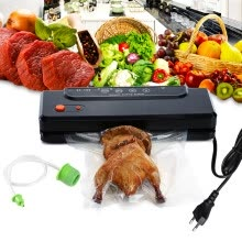 -ATWFS Household Multi-function Best Food Vacuum Sealer Saver Home Automatic Vacuum Sealing Packer Plastic Packing Machine Bags on JD