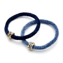 hair-jewelry-Chimera (CHIMERA) hair ornaments headdress flow beaded high elastic rubber band hair ring hair band tail rubber soft blue on JD
