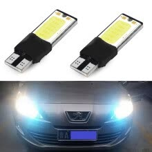 -2pcs 6W Bright T10 LED Auto Car Interior COB Width Wedge Bulb Light 12V White White on JD