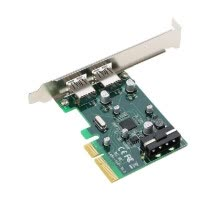 add-on-cards-PCI-E к 2-портовому USB3.1 Тип A PCI Express Плата расширения USB 3.1 Адаптер концентратора концентратора Superspeed 10 Гбит / с с большой мощностью 4Pin Power Con on JD