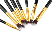-8pcs Makeup Brush Blend Shadow Angled Eyeliner Smoked Bloom Eye Brushes Set on JD