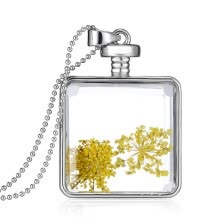 -Aiyaya Fashion Jewelry Small Dry Yellow Flower Crystal Pendant Necklaces Chain on JD