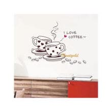 -Art Wall Sticker Home Poster 'I Love Coffee' Cup Pattern Mural Decals Decor Kitchen Room on JD