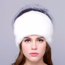 hats-caps-Mink fur female winter hat warm natural fox fur design real fur hat beautiful fashion new discount free shipping high quality on JD