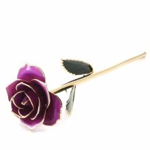 wedding-gifts-Purple Gold Rose Made from Real Rose with Stand - A Beautiful Reminder of Love - Unique Anniversary Birthday on JD