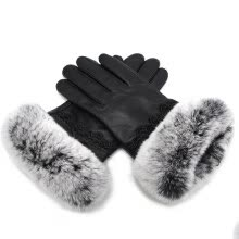 875062531-Natural real sheepskin autumn and winter women's fur gloves handmade wrist warm lace 2018 new urban fashion trend discount on JD