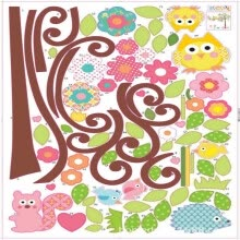-For Bedroom Wall Wallpaper Stickers Kid 3D Sticker Flower TREE Night Bright on JD