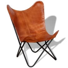 other-furniture-Butterfly Chair Real Leather Brown on JD