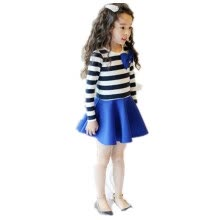 -Hot Sale! 2016 Spring Casual Dress New Models Kids Dress Princess Girls Dress Rose Red and Blue Dresses Girl Free Shipping on JD