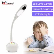 smart-home-Wistino HD 720P CCTV WiFi Table Lamp Camera IP Smart Home Desk Camera Wireless Security Video Baby Monitor P2P Led Light Remote on JD