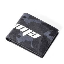 -BABAMA Tide brand fashion men's short wallet camouflage personality youth coin purse open large capacity multi-card wallet 917033201 black on JD
