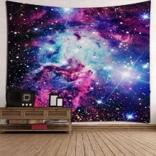 8750202-Galaxy Starry Star Earth Hanging Wall And Blanket Background Fabric Multipurpose Vintage Hippie Beach And Yoga Towel on JD