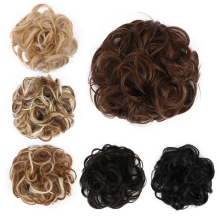 chignon-Synthetic Chignon Hair Bun Hairpiece Curly Hair Scrunchie Extensions 30g 6Colors Black Brown Blond Wigs For Women Heat Resistant on JD