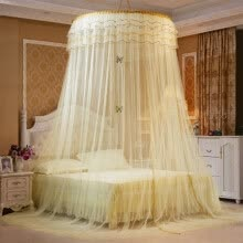 shams-bed-skirts-bed-frame-draperies-Luxury Romantic Hung Dome Mosquito Net Princess Students Insect Bed Canopy Netting Lace Round Mosquito Nets Curtain For Bedding on JD