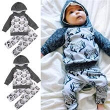 traditional-tops-Toddler Baby Boys Girls Tops Hoodie Long Pants Home Outfit 2Pcs Set Clothes Xmas on JD