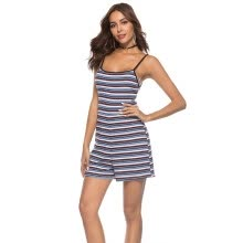jumpsuits-playsuits-bodysuits-New three color striped suspender shorts on JD