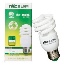 -[Jingdong Supermarket] NVC lighting (NVC) energy-saving lamps E27 large mouth spiral 15W2700K incandescent light (yellow) on JD