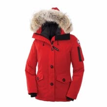 875061819-Goose Women's Montebello Parka Women Winter Coat Goose Down Feather Jacket Waterproof Overcoat with Big Real Coyote Fur Collar for on JD