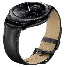 smart-devices-20mm for Gear S2 Classic Smart Watch Band Premium Soft Genuine Leather Strap Replacement band for Samsung Gear S2 Classic on JD