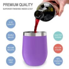 cups-Xmas Gift Egg Cocktail Tumbler Wine Cup Stainless Steel Metal Goblet Mug WithLid on JD