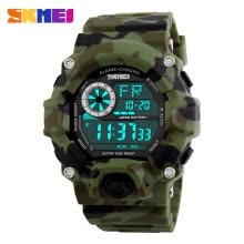 -SKMEI Brand Digital LED 50M Water-Proof Men Military Sports Watches Fashion Man Electronic Outdoor Casual Wristwatch Alarm Backlig on JD