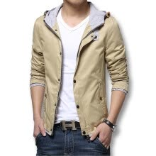 -Fashion Men Jackets 2016 New Men Coats Spring Autumn Casual Jackets Coats Slim Fit Cotton Plus Size 3XL Zipper Fashion Designers on JD