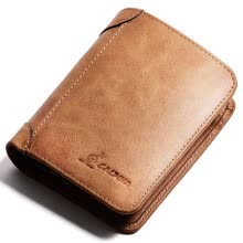 -Alpina kangaroo (L'ALPINA) wallet male short section men's wallet large capacity driver's license thin layer of leather wallet 661052131 retro brown on JD