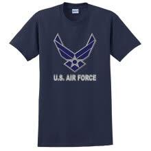 578d349a Custom U.S. Air Force chevron logo on mens or youth t-shirt