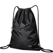 -Golf GOLF Waterproof DrawString Backpack Trend Backpack Casual Sports Backpack Fashion Multifunction Lightweight Drawstring Bag Drawstring D6BV85531SX Black on JD
