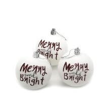 -3Pcs Christmas Balls Baubles Home Party Supplies Xmas Tree Decorations Matte White Balls Christmas Tree Hanging Ornament Decor on JD