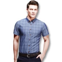 875061442-New Arrival Men Plaid Shirts 2016 Fashion Men Summer Shirts Short Sleeves Slim Fits Casual Plaid Shirts 4 Colors Plus Size 5XL on JD